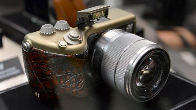 מצלמת האסלבלאד בעור תנין