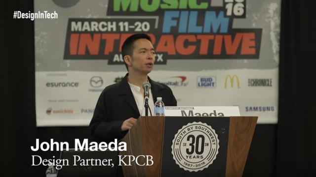 ג׳ון מאדה מתאר את התזוזה של העולם העסקי לעבר עיצוב וטכנולוגיה